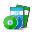dvd digital video discs cases for storage vector image