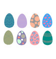 a series of easter eggs vector image