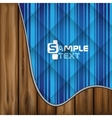 Abstract Blue Stripe Background vector image vector image