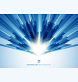 abstract motion geometric shiny blue overlapping vector image vector image