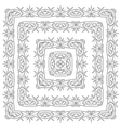 abstract pattern frame vector image vector image
