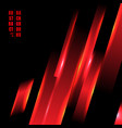 abstract red color light oblique line technology vector image vector image