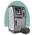 atm cash machine vector image vector image