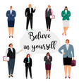 believe in yourself feminism concept vector image