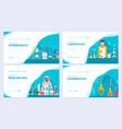 biohazard chemists brochure cards set vector image vector image