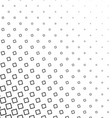 Black and white angular square pattern background vector image vector image