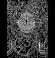 black and white spirit shaman surreal fantas vector image vector image