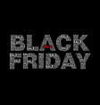 black friday text designed using sale text vector image vector image