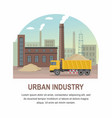 building factory industry zone vector image vector image