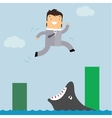 business in danger vector image