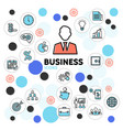 business line icons collection vector image