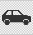 car icon in flat style automobile car on isolated vector image