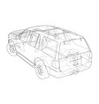 car suv drawing outline vector image vector image