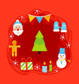 christmas papercut concept vector image vector image