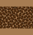 coffee beans brown vector image vector image