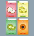 Colorful Fruits banner for app design 4 vector image vector image