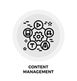 Content Management Line Icon vector image