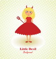 Cute Little Devil Background vector image