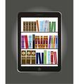 e-book library concept over gray background