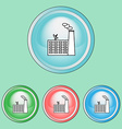 Ecology Icons Set Industrial Pollution vector image vector image
