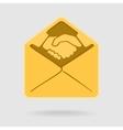 Envelope Symbol Handshake vector image vector image