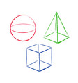geometric shapes set 5 vector image vector image