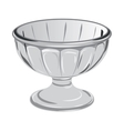 Glass vase for desserts or sweets vector image