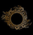 golden floral frame vector image