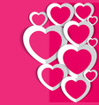 hearts for valentine s day vector image vector image
