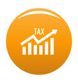 high tax icon orange vector image