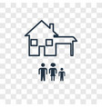 home concept linear icon isolated on transparent vector image vector image