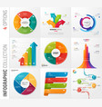 infographic collection of 4 options vector image vector image