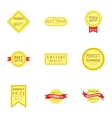 Label quality icons set cartoon style vector image vector image