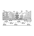 line city street outline urban scene with vector image vector image