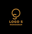 luxury initial s logo design icon element isolated vector image vector image