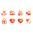 man love dating chat and friends chat icons set vector image vector image