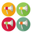 megaphone flat icon set vector image vector image