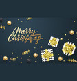 merry christmas greeting card background template vector image