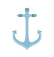 metal anchor marine naval device vector image