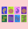 minimal covers templates with optical design vector image