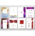 Multicolored brochures template in trendy style vector image