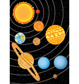 nine planets vector image vector image