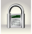 Opened padlock with digital interface vector image vector image