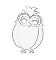 owl happy cute icon image vector image vector image