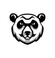 panda bear head sign on white background design vector image vector image