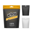 paper pack with whey creatine powder supplement