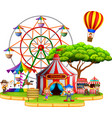 people having fun in circus vector image
