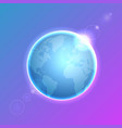 planet earth on colorful defocused lights bokeh vector image vector image