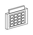 schedule symbol 3d vector image vector image