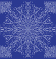 seamless texture with lace snowflake for your vector image vector image